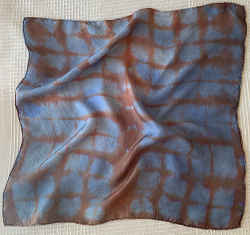 Brown and Blue Scarf 50 x 50