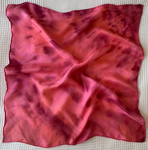 Pink and Burgundy Scarf 50 x 50