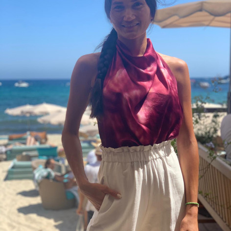 Agus's Capsule Collection for sale at Tropezina Beach Club in St Tropez
