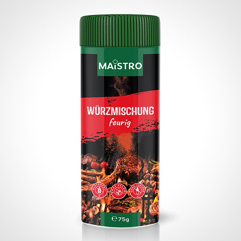 MAISTRO Würzmischung - feurig (Streuer 75g)
