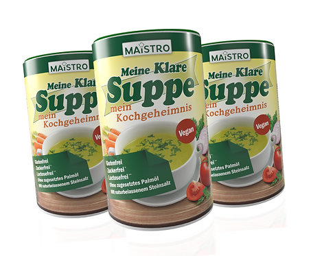 MAISTRO VORTEILSPACK 3Stück MAISTRO Klare Suppe 900g/45L