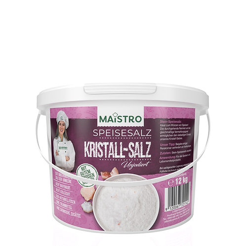 Kristall Natursalz  12kg (unbehandelt)