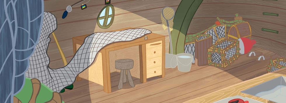 Inside Fisherman's hut - Final Layout
