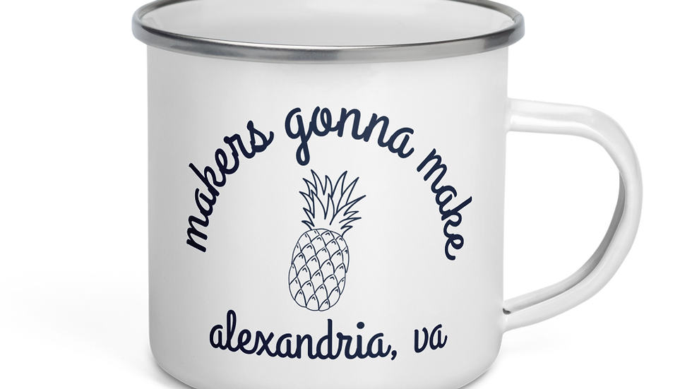 Makers Gonna Make Enamel Mug