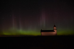 church_northern_lights