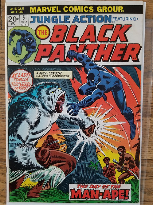 Jungle Action 5 1st solo Black Panther front