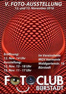 V. Fotoausstellung 12. Nov. bis 13. Nov. 2016