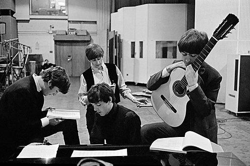 David Hurn © The Beatles at Abbey Road Studios.