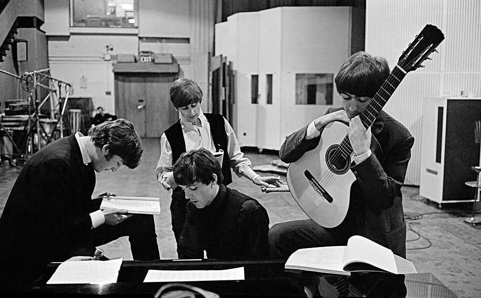 David Hurn-The Beatles a Abbey Road Stud