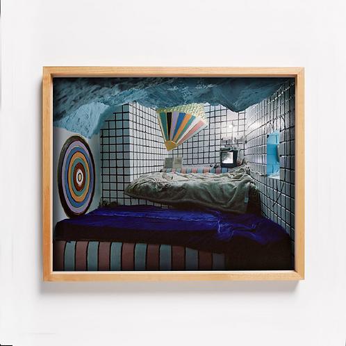 CCTV monitor in cave bedroom © Nishant Shukla