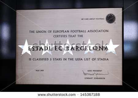 stock-photo-barcelona-june-a-plaque-sitted-on-the-f-c-barcelona-museum-that-certifies-by-the-uefa-th