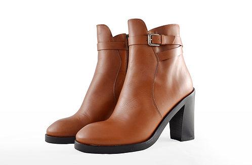 紅棕色高跟裸靴