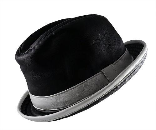 真皮紳士圓帽