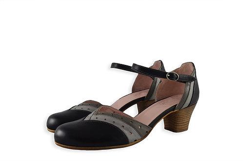 繞踝淑女跟鞋