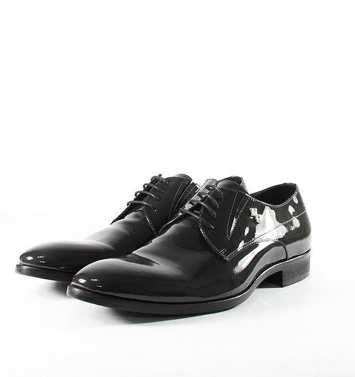 漆皮灰紳士鞋