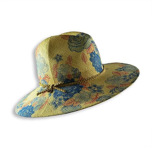 瓊麻繁花壓紋紳士帽