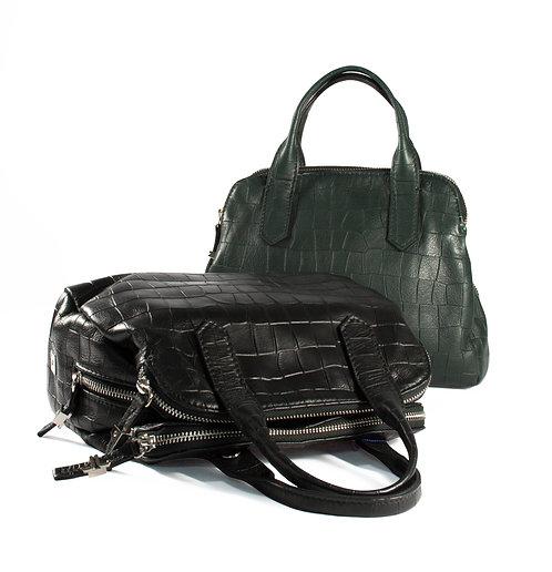 頂級NAPPA仿鱷魚皮壓紋手提肩背雙用包
