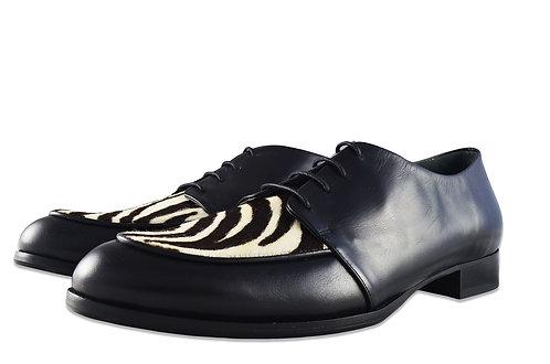 斑馬紋英倫紳士鞋