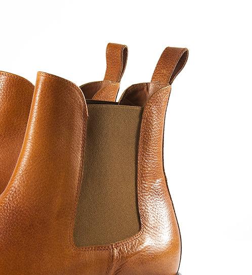 亮棕色騎士靴