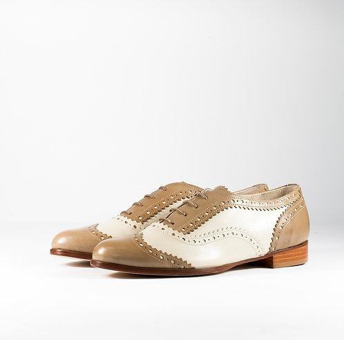 經典雙色雕花牛津鞋