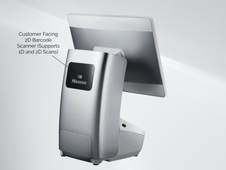 Customer Facing 2D Barcode Scanner (Supports 1D and 2D Scans)