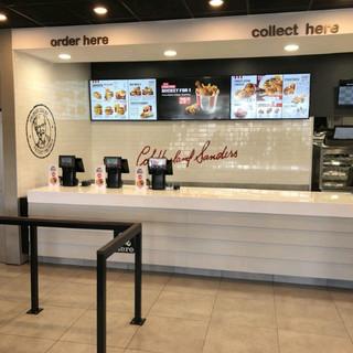 Hisense Luna on counter in KFC QSR store