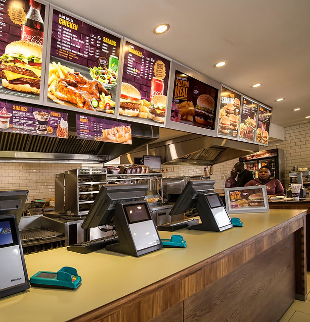 Hisense PoS Systems on Fast Food counter