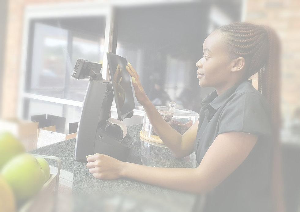 Coffee Shop Cashier with Hisense Luna PoS System