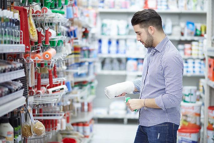 Man in Hardware retail store