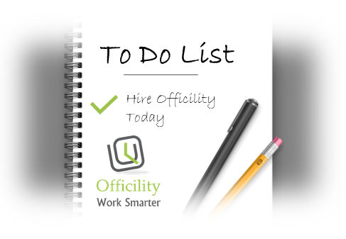 Notepad with pen and pencil with a to do list