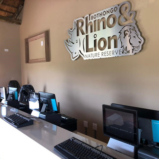 Luna X on counter in Rhino and Lion Park