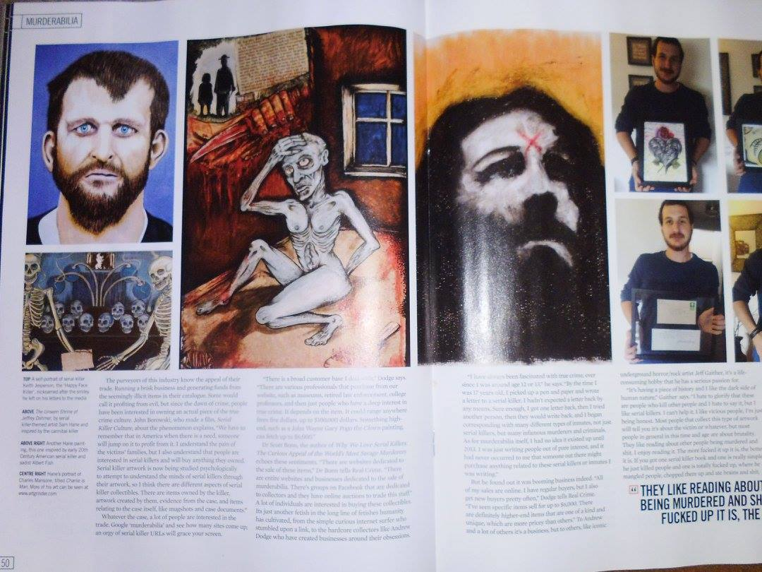 ART FEATURE REAL CRIME MAGAZINE