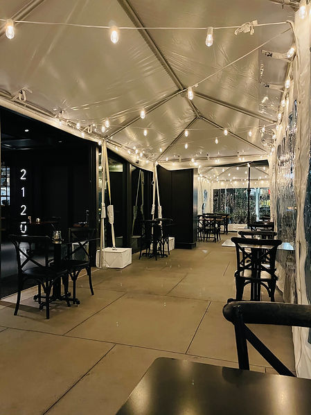 Enjoy Outdoor Dining on our Covered & Heated Patio at 2120, one of Seattle's Best Restaurants
