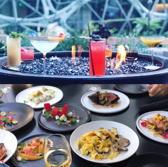 Excellent Food & Cocktails to enjoy on our patio