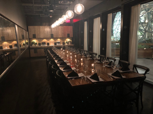 2120 Private Dining Room Overlooking the Amazon Spheres