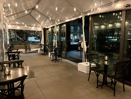 Covered & Heated Outdoor Dining at 2120