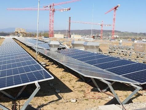 Auf den Dächern der «Stücki» entsteht die größte optimierte SolarEdge Photovoltaik- Anlage der Schwe