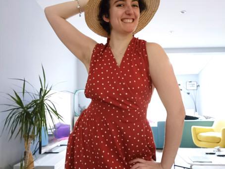 @She_sew_fabulous makes the Lynn Pinafore