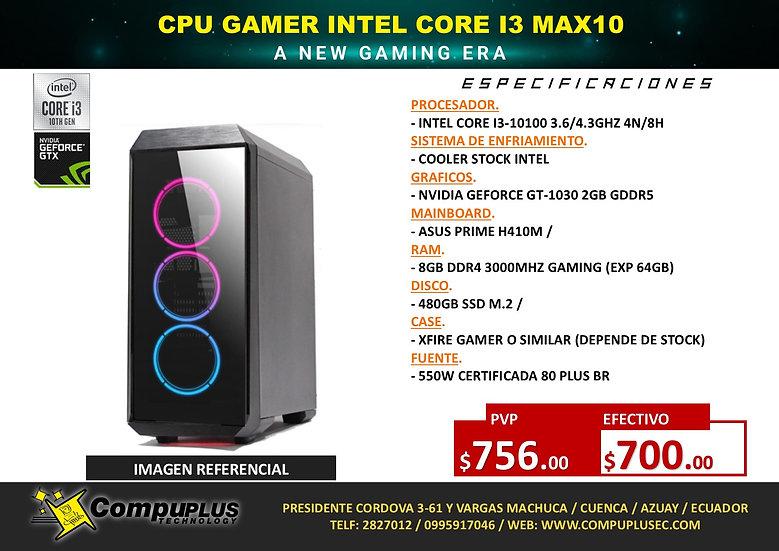 CPU GAMER INTEL CORE I3 MAX10