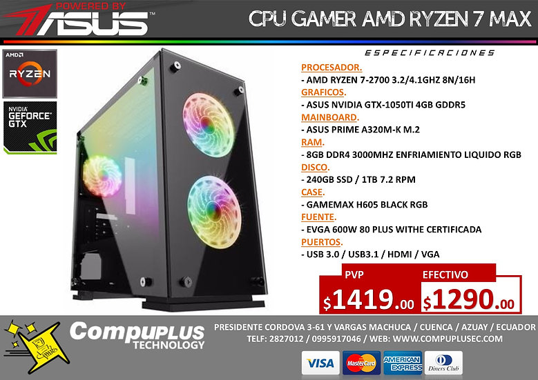 RYZEN 7 / POWERED BY ASUS
