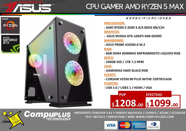 RYZEN 5 / POWERED BY ASUS