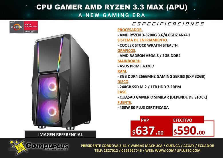 CPU GAMER AMD RYZEN 3.3 MAX
