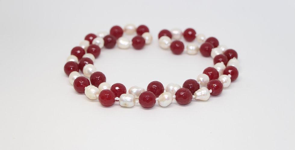 Cranberry & Snow Berry Necklace