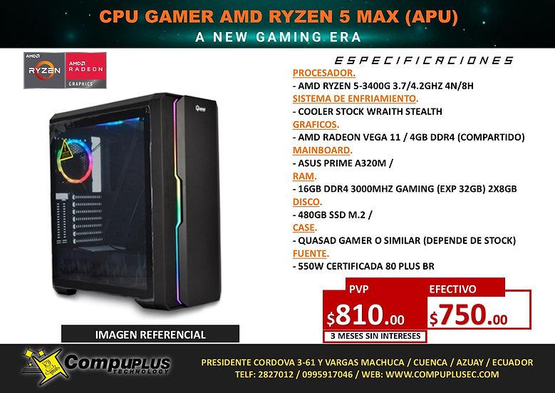 CPU GAMER AMD RYZEN 5 MAX (APU)