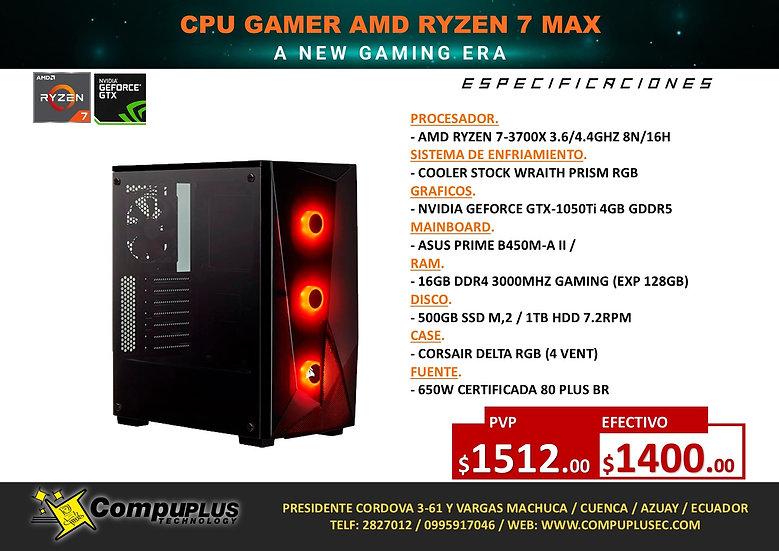CPU GAMER AMD RYZNE 7 MAX