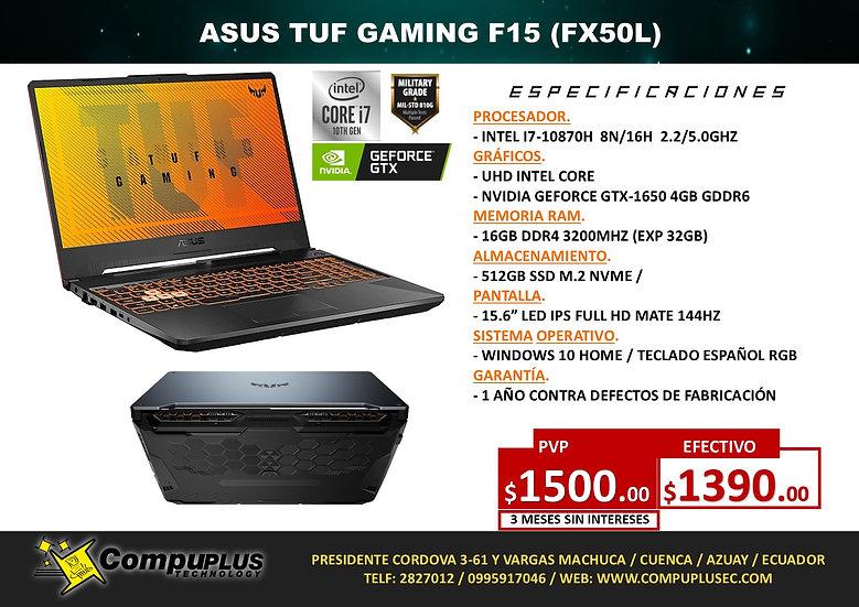 ASUS TUF GAMING FX506L (INTEL I7)