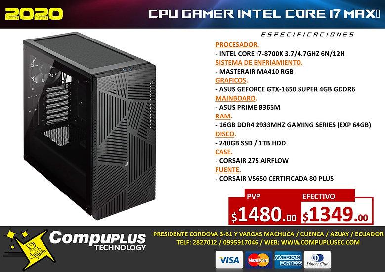 CPU GAMER INTEL I7 MAX+
