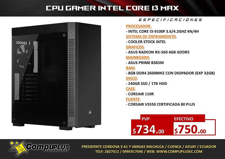 CPU GAMER INTEL I3 PLUS