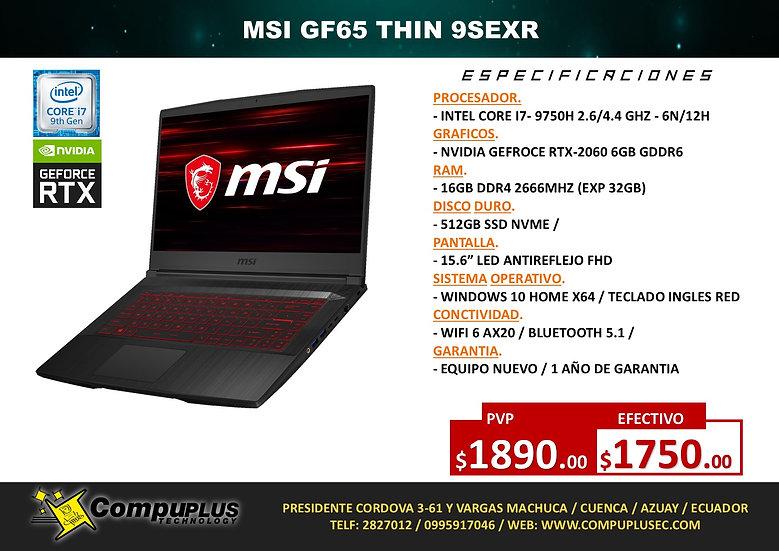 MSI GF65 THIN 9SEXR