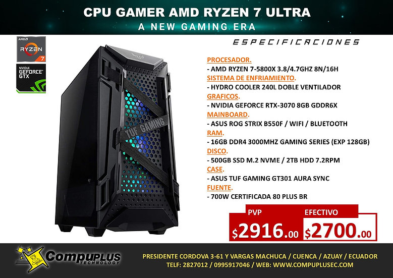 CPU GAMER AMD RYZEN 7 ULTRA